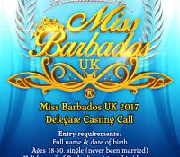 MISS BARBADOS UK 2017 APPLICATIONS NOW OPEN